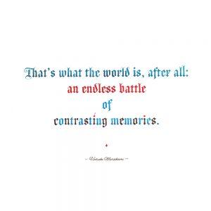 Murakami quote calligraphy