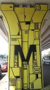 George Street gallery Ghica Popa mural