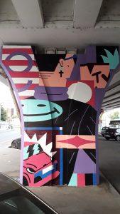 George Street gallery Saddo mural