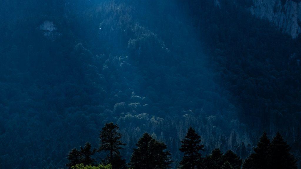 peisaj vedere terasa busteni munti god rays
